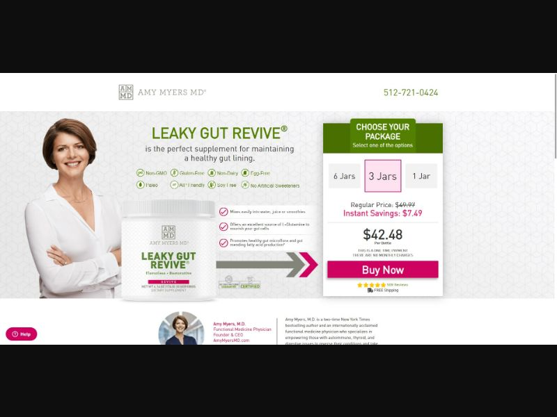 Amy Myers MD Leaky Gut Revive - Health - SS - NO SEO - [GEOs with exceptions]
