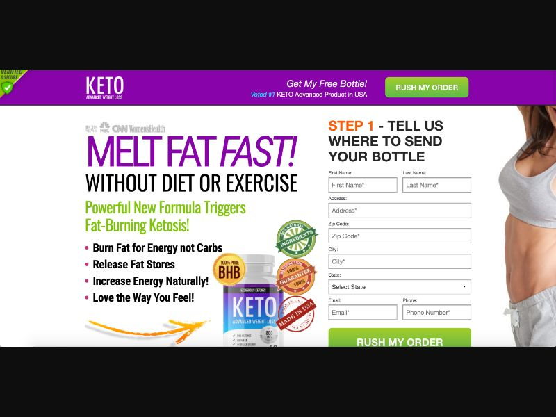 Keto Advanced - CC submit - US - Well-Being - Responsive