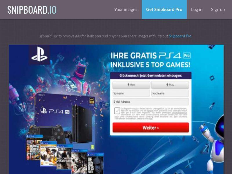 Winmarketing - Playstation 5 - DE