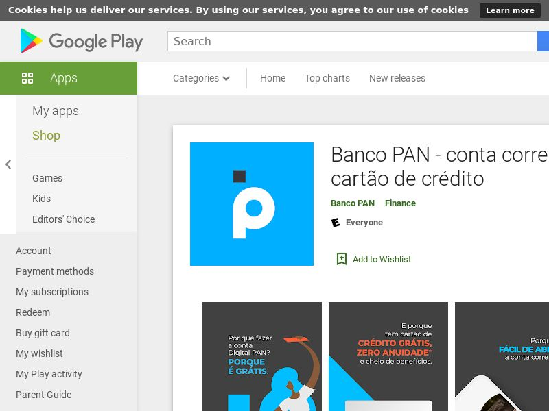 Banco PAN - conta corrente com cartão de crédito (Android 8.0+) BR - Non incent