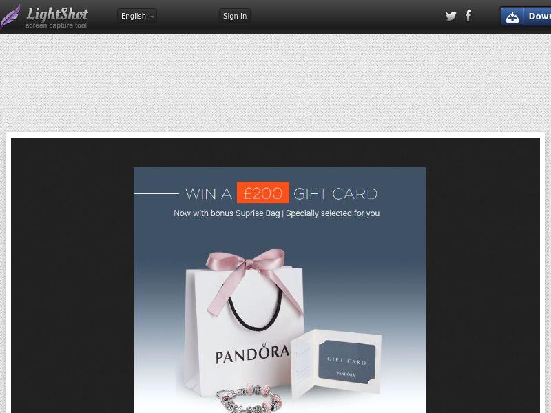 Pandora Samples - UK