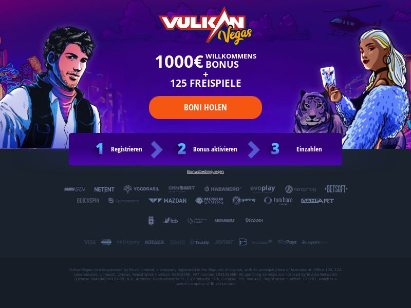 Vulkan Vegas - Welcome Bonus - Email - DE