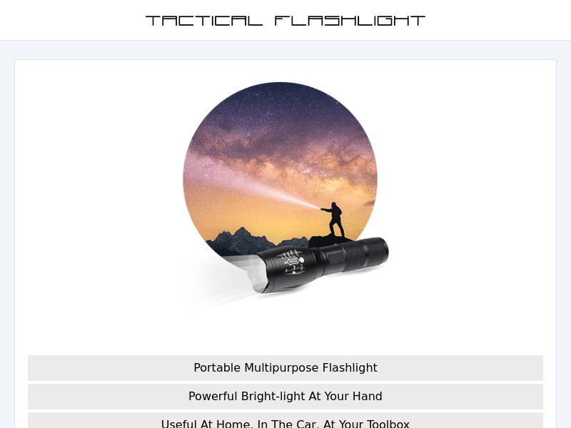TacticalX - Flashlight - CPA - [INTERNATIONAL]