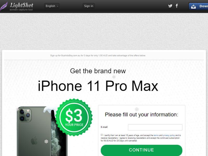 Gardenhut iPhone 11 Pro Max (CC Trial) - Australia