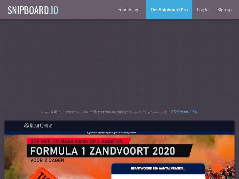 NectarContests - Formula 1 Tickets NL - SOI