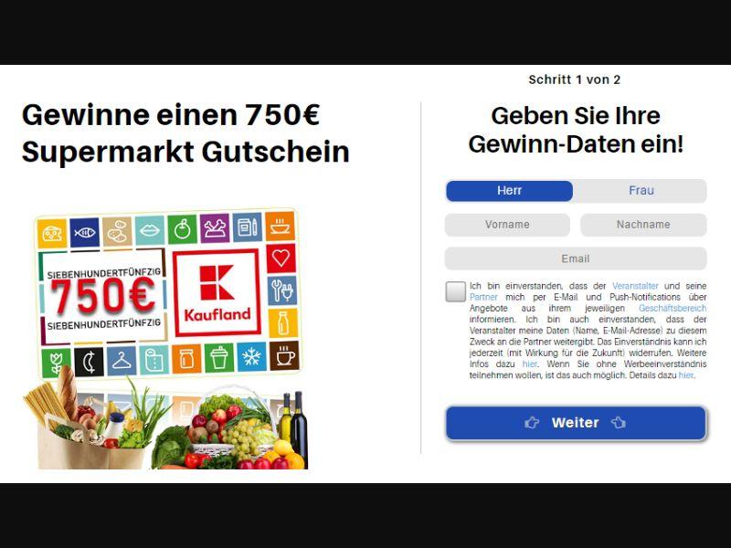 DE - Win a € 750 supermarket voucher [DE] - SOI registration