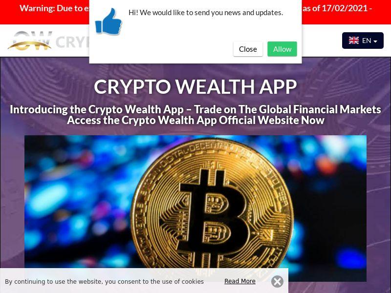 Crypto Wealth App German 2460