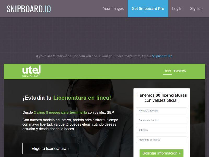 41135 - MX - UTEL Licenciaturas CPL - [Push - display] [monthly 700 cap]