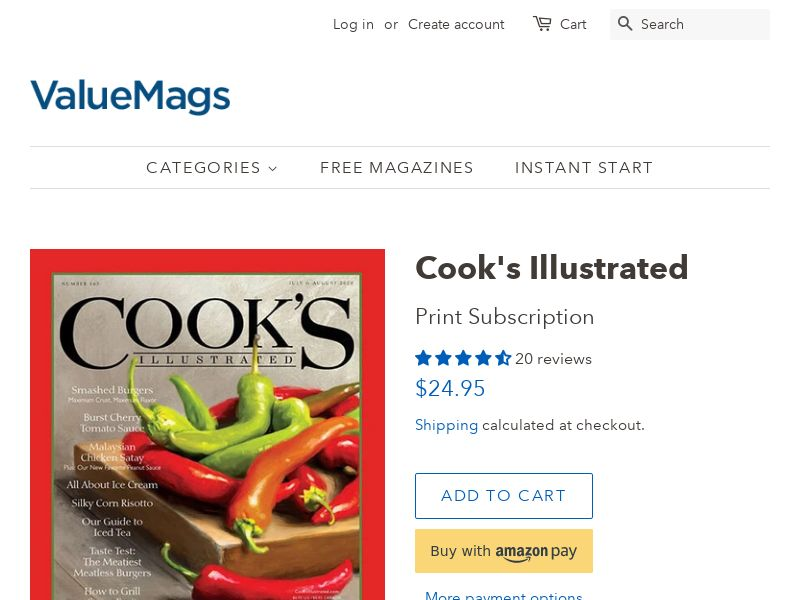 Cooks Illustrated - Magazine Subscription | US