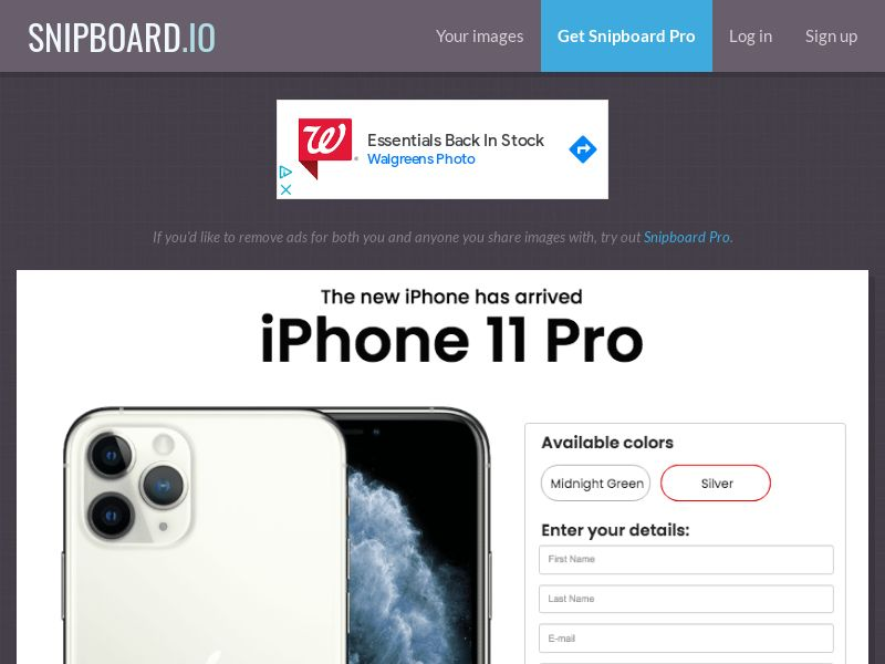 SteadyBusiness - iPhone 11 Pro LP25 (new) NZ - CC Submit