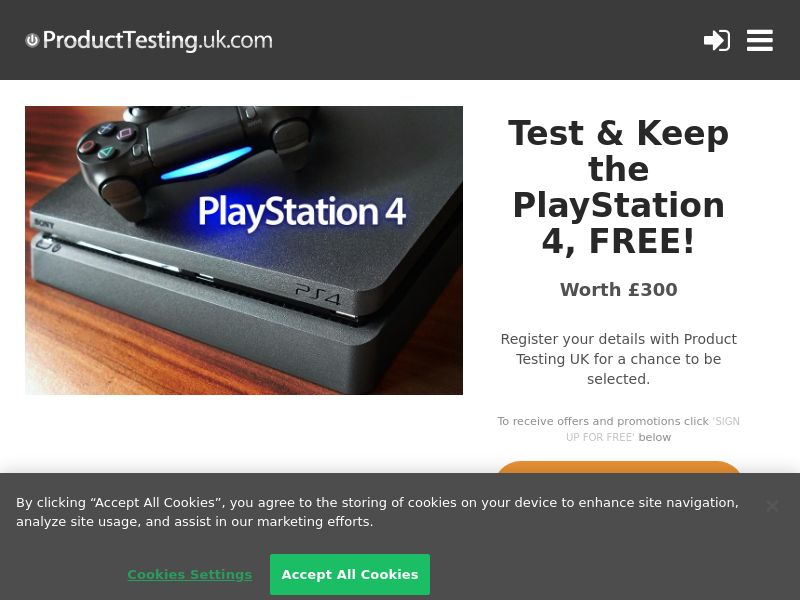 Product Testing - Become A Product Tester for Playstation 4 [UK]