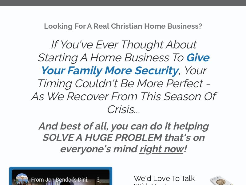 FQ - Christian Home Business | US, CA