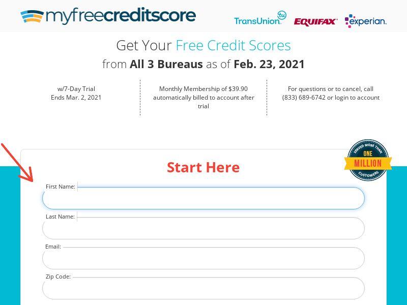 Myfreecreditscore.us - Credit Monitoring - Free Trial - [US]