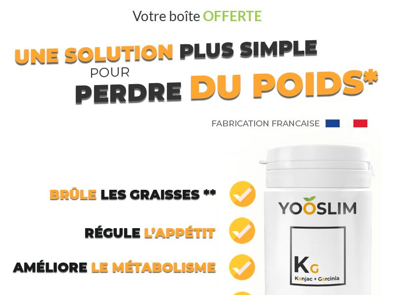 Yooslim [DIET] - CPA - Trial - France [Monthly net15 payment]