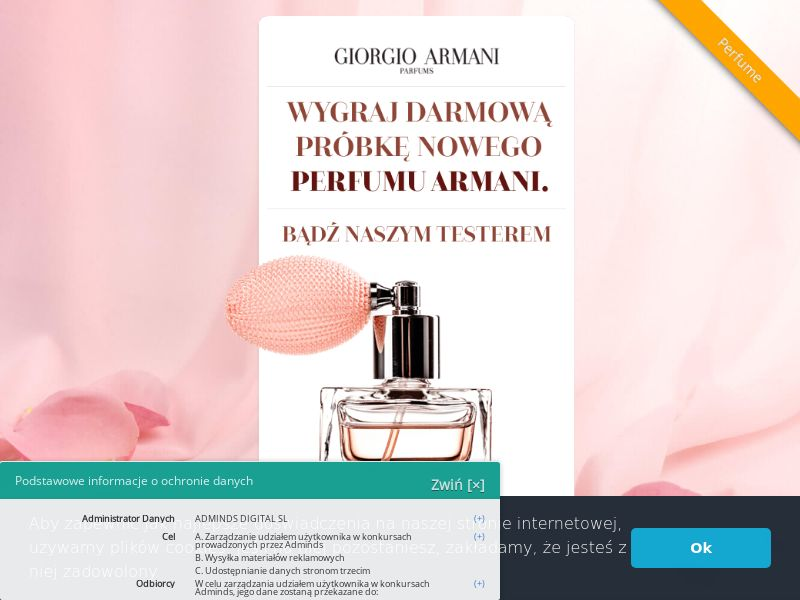 Armani (PL), [CPL], Health and Beauty, Cosmetics, Lotteries and Contests, Single Opt-In, coronavirus, corona, virus, keto, diet, weight, fitness, face mask, paypal, survey, gift, gift card, free, amazon