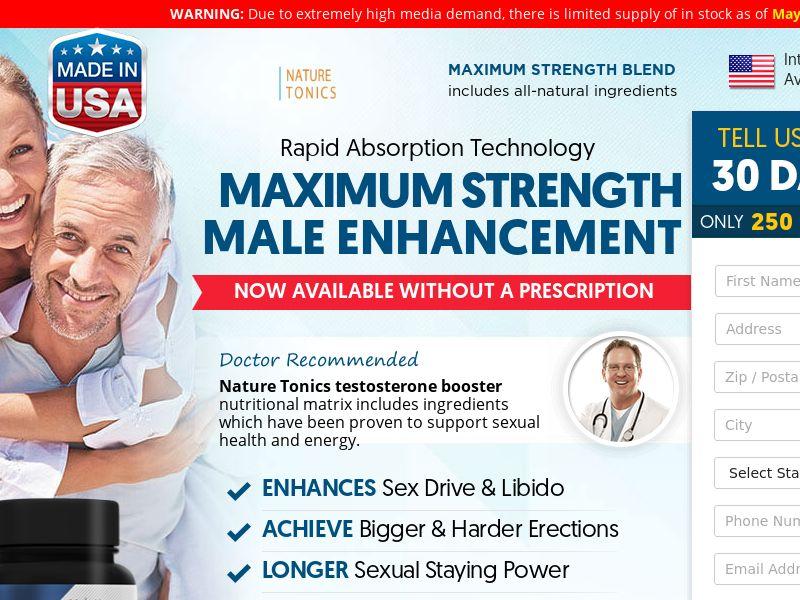 Nature Tonics Male Enhancement (Trial) (US) (SURVEY ALLOWED)