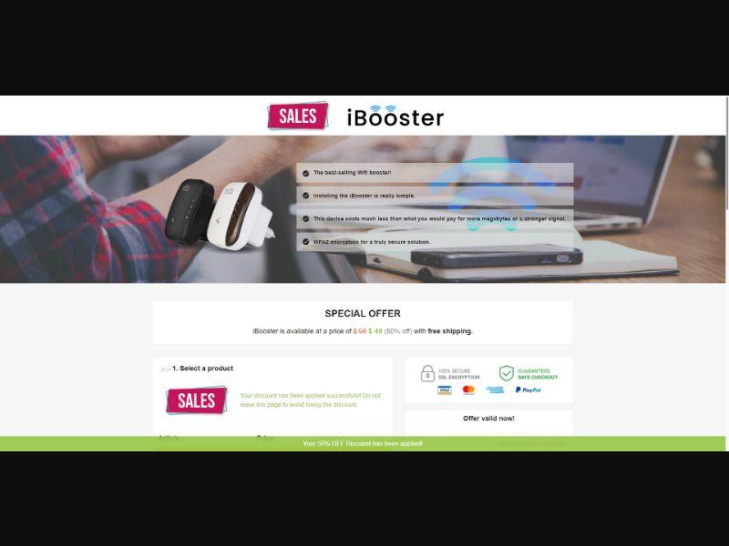 iBooster Wifi Booster - eComm / Gadgets - SS - [143 GEOs]