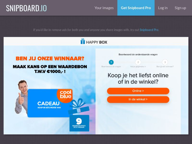 39207 - NL - OnlineWinAction - CoolBlue (With Prelander) - SOI 21+