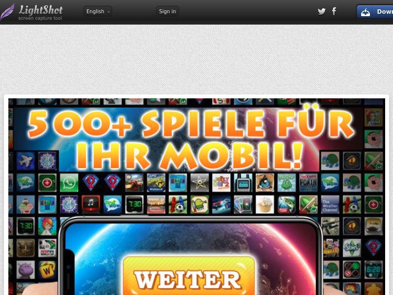 500+ Games [CPA] (1click) (Vodafone, O2) (All) DE - Mainstream