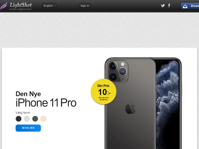 winlotsofthings iPhone 11 (Sweepstake) (CC Trial) - Denmark [DK]