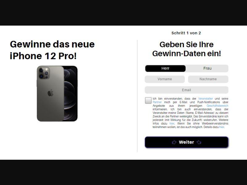 DE - Win iPhone 12 pro [DE] - SOI registration