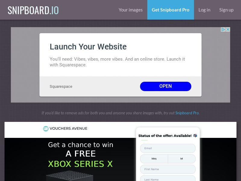 Vouchers Avenue - Xbox series X US - SOI