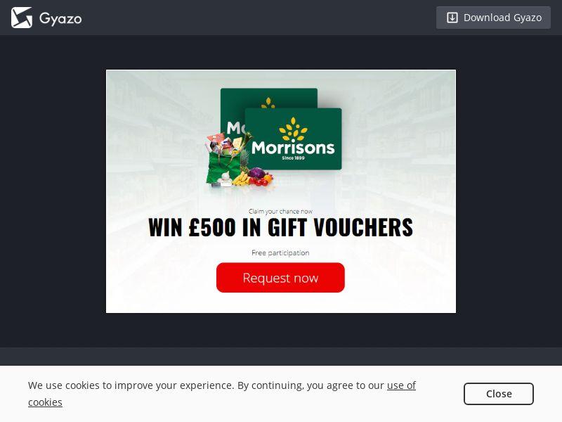 GreenFlamingo - Win 500 Morrisons Gift Card - UK