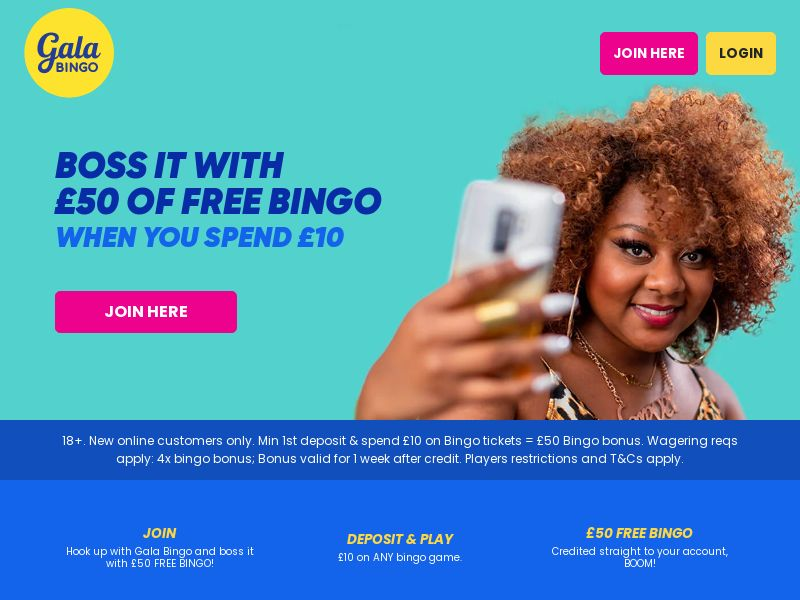 Gala Bingo - Spend 10 Get 50 - INCENT - UK
