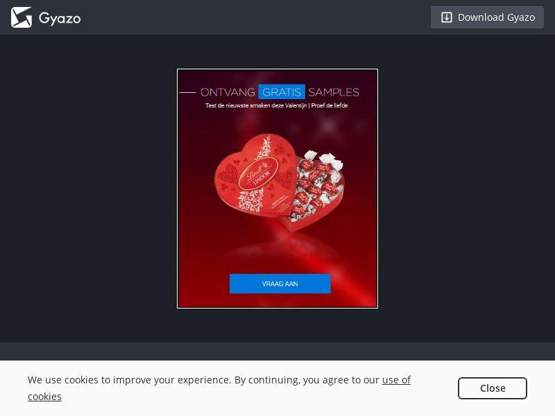 Lindt Valentine Voucher (BE) (CPL)