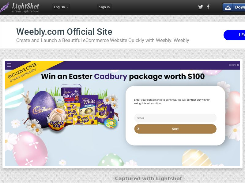 YouSweeps - Win Cadbury Easter Package (CA) (CPL) (Personal Approval)