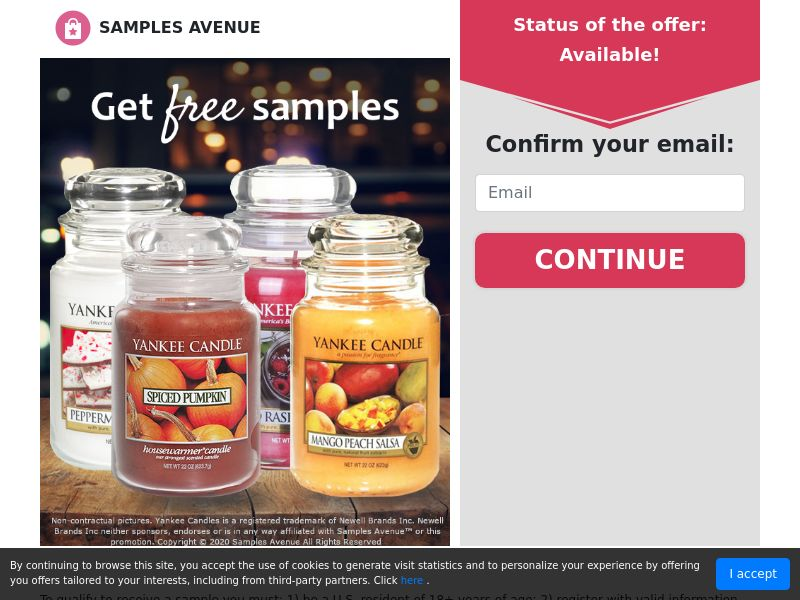 Get a Free Candle Set - Sweepstakes - US