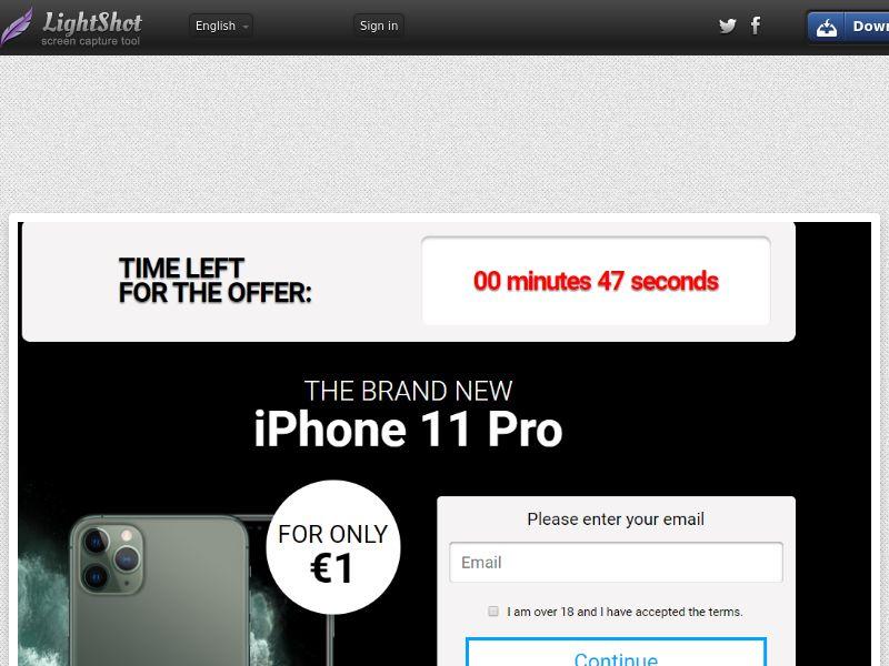 GetRealDeal iPhone 11 pro dark (Sweepstake) (CC Trial) - Ireland [IE]