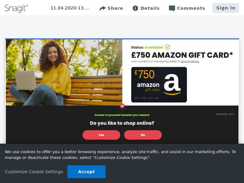 Amazon £750 - SOI   UK