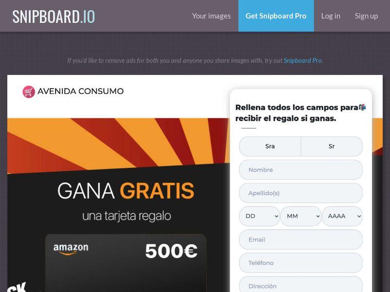 Avenida Consumo - Amazon Giftcard ES - SOI