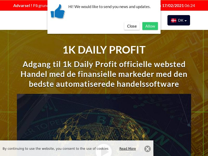 1k Daily Profits Danish 1943