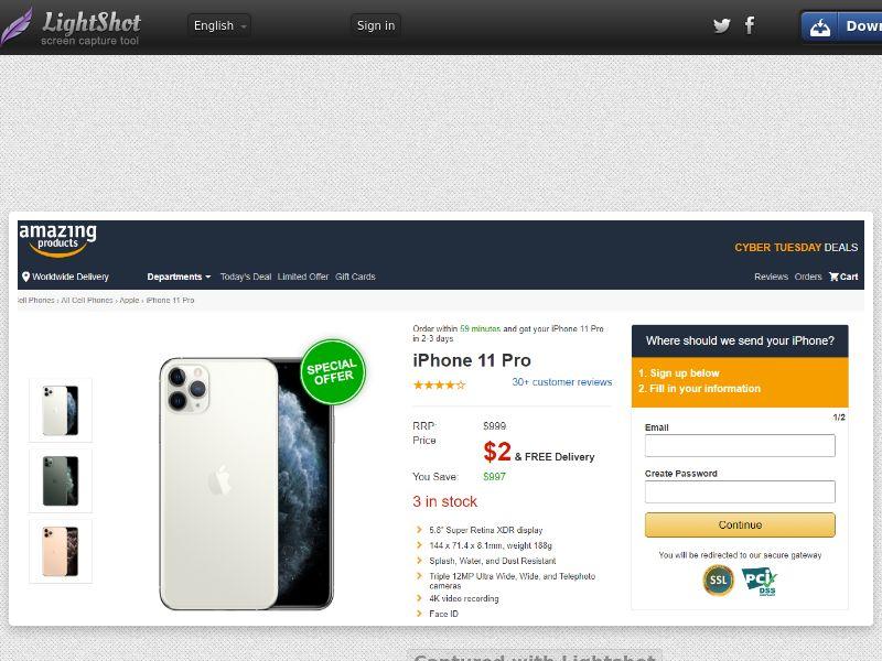 Smarttestlive Amazing iPhone 11 Pro - Trial - US