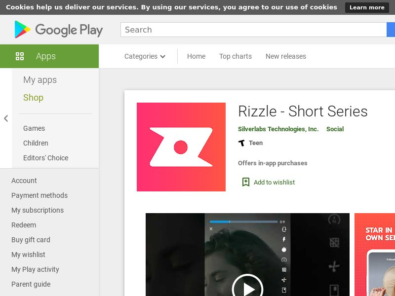 Rizzle Android USA incent