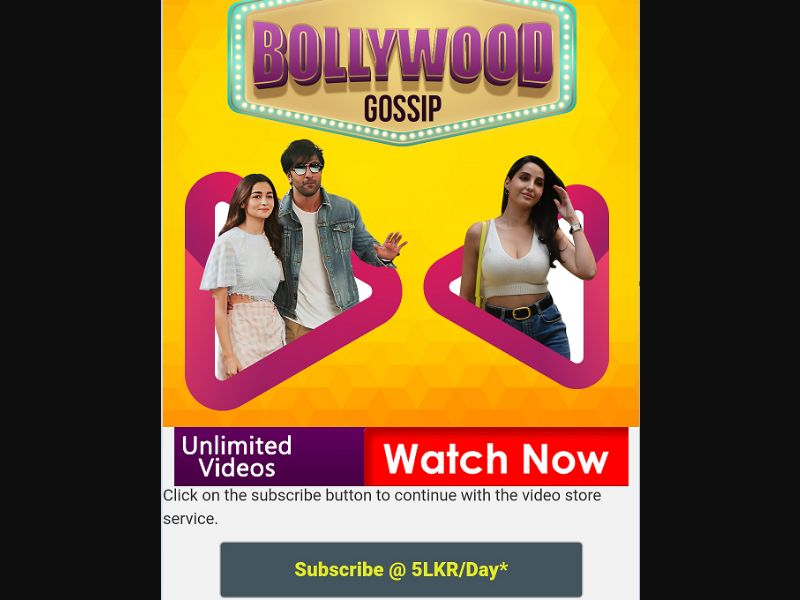 Bollywood Gossip (LK)