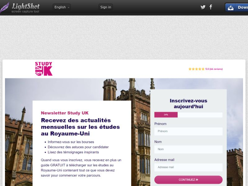 British Council - StudyUK (FR) (CPL) (Personal Approval)