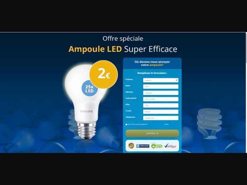 Ampoule Led Light - Sweepstakes & Surveys - Trial - [FR]