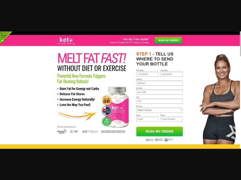 Divatrim Keto - Diet & Weight Loss - SS - NO SEO - [CA]