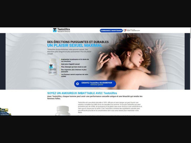 TestoUltra Testosterone Enhancer - Male Enhancement - SS - [FR]