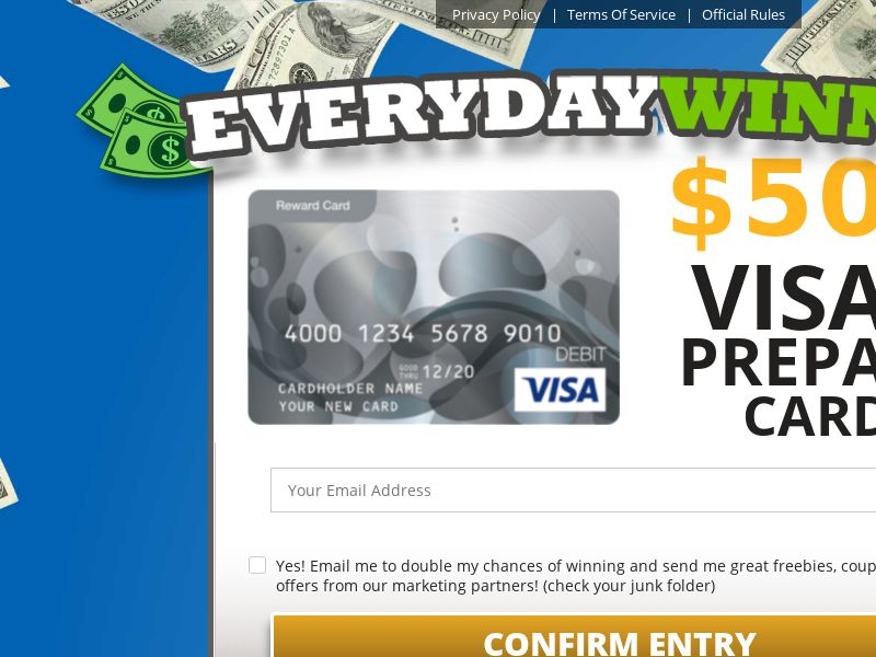 Everyday Winner - Visa Giftcard CPL [US]