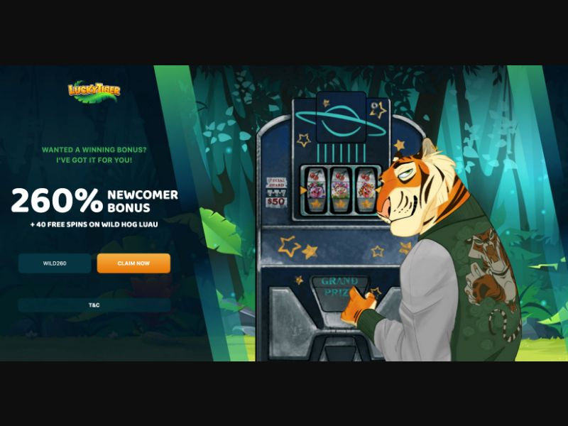 Lucky Tiger - CC Submit - US-AU - Money Games - Responsive