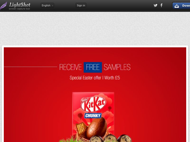 Portal Leads - Kit Kat Easter (UK) (CPL) (Incent) (Personal Approval)