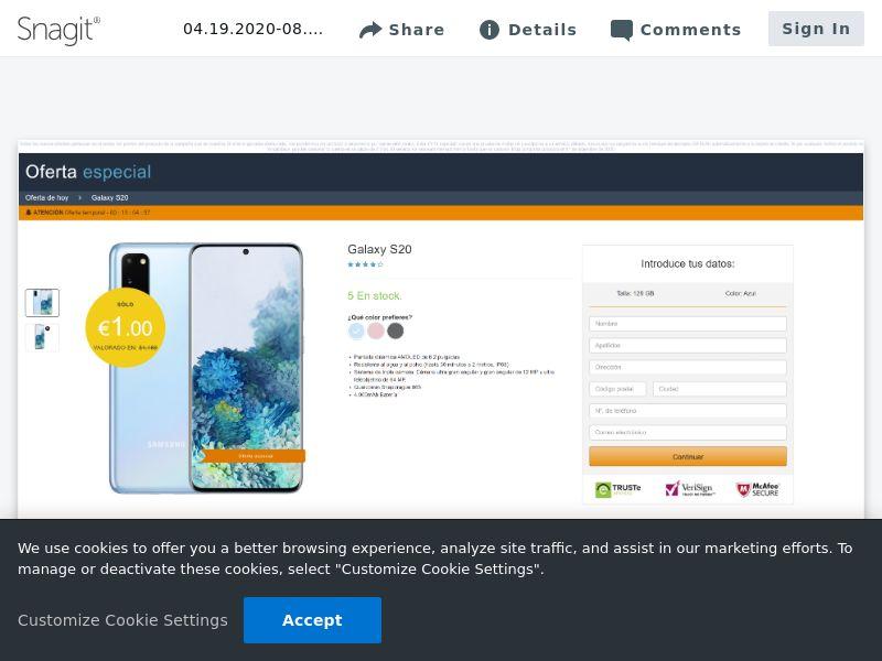 winlotsofthings Samsung S20 (Amazon) | ES