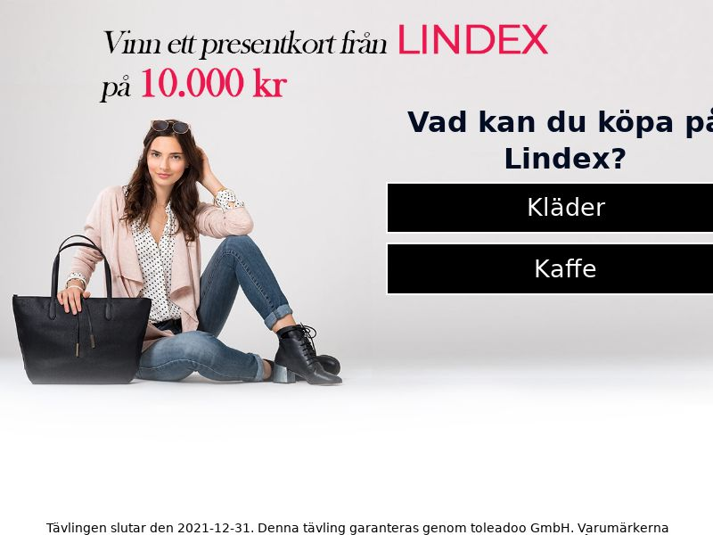 11277) [WEB+WAP] Lindex 10.000kr - SE - CPL
