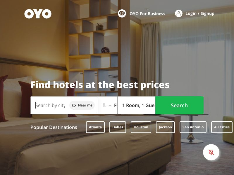 OYO Hotels and Homes - CPS - US - check setting