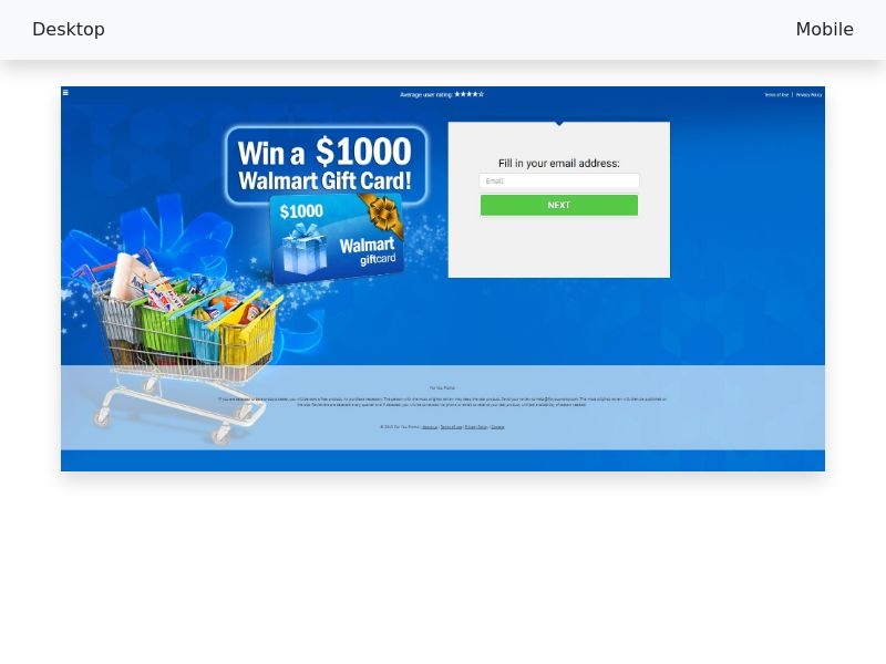 Sweepstake Win a Walmart gift card - CPL SOI - All devices - [US]