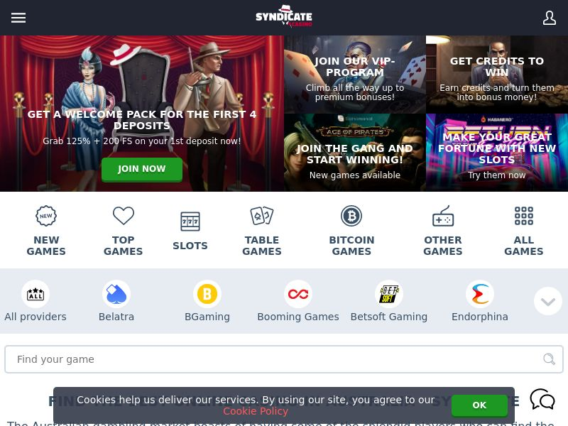 11000) [WEB+WAP] Syndicate casino - AU - CPA